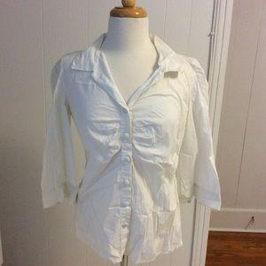 Banana Republic white blouse